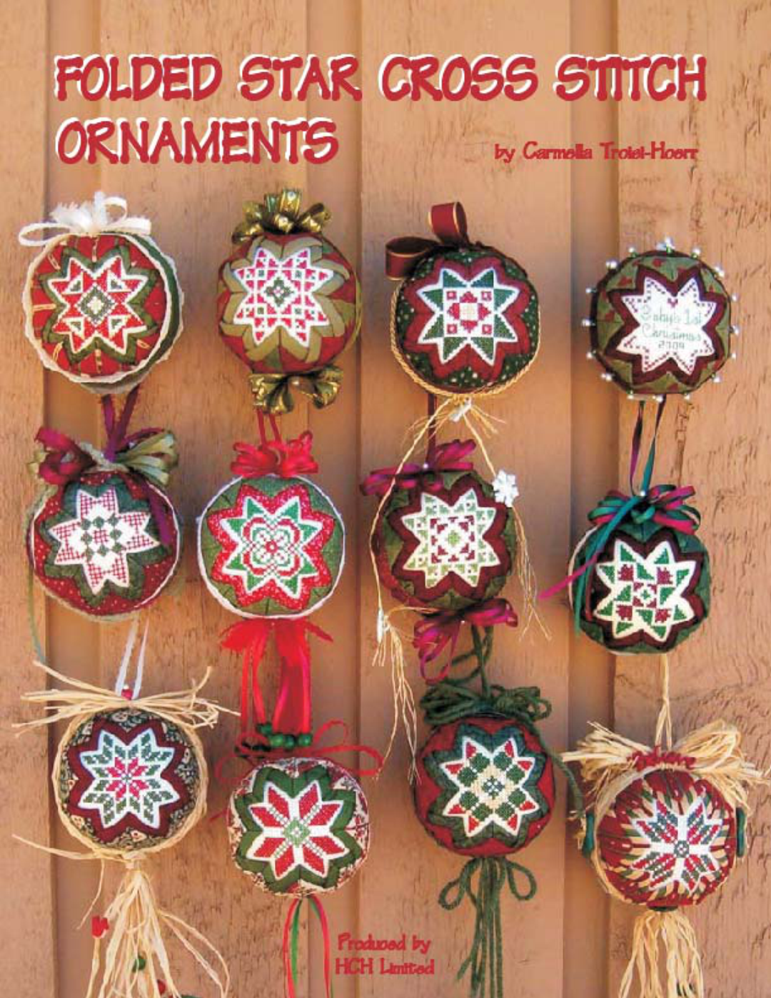 Folded Star Cross Stitch Ornaments