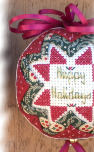 Folded Star Ornament Happy Holidays
